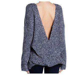 Wildfox Soild Knit V-Back Sweater